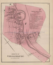 Gibsonburg Pennsylvania Antique Map Beers 1873