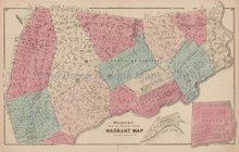 Luzerne County Warrant Map W Pennsylvania Antique Map Beers 1873