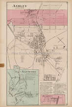 Ashley Nanticoke Plumbton Pennsylvania Antique Map Beers 1873