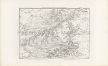Antique Map Battle Auerstadt Thiers 1864