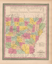 Arkansas Antique Map Cowperthwait 1853