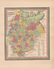 Russia Europe Antique Map Cowperthwait 1853