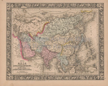 Asia Vintage Map Mitchell 1864
