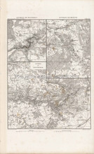 Antique Map Montereau Brienne Montmiruil France Thiers 1864
