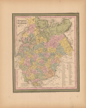 Russia Europe Antique Map Mitchell Cowperthwait 1853