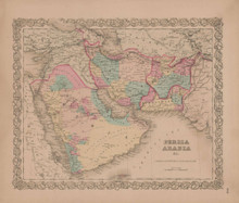 Persia and Arabia Vintage Map GW Colton 1856