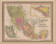 Mexico Vintage Map Mitchell 1847