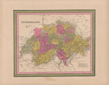 Switzerland Vintage Map Mitchell 1847