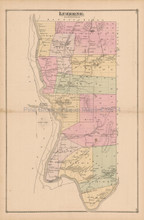 Luzerne Caldwell New York Antique Map Beers 1876