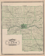 Cass Logansport County Indiana Vintage Map Baskin 1876