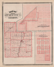 Fayette County Indiana Vintage Map Baskin 1876