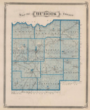 Dubois Harrison County Indiana Vintage Map Baskin 1876
