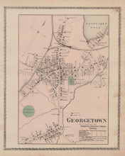 Georgetown Massachusetts Vintage Map Beers 1872