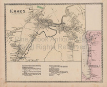 Essex Riverdale Massachusetts Vintage Map Beers 1872