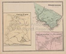 Town Swampscott Massachusetts Vintage Map Beers 1872