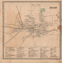 Adams New York Village Vintage Map Beers 1864