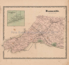 Brownville Dexter New York Vintage Map Beers 1864