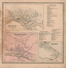 Chaumont Dexter New York Vintage Map Beers 1864