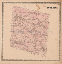Lorraine New York Vintage Map Beers 1864