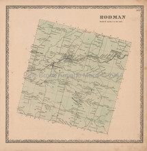 Rodman New York Vintage Map Beers 1864