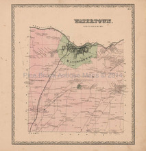 Watertown Township New York Vintage Map Beers 1864