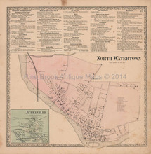 North Watertown New York Vintage Map Beers 1864