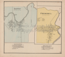 Leipsic Frederica Delaware Antique Map Beers 1868