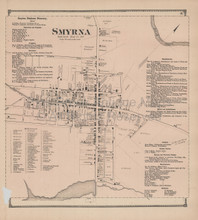 Smyrna Delaware Antique Map Beers 1868
