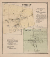 Camden Felton Delaware Antique Map Beers 1868