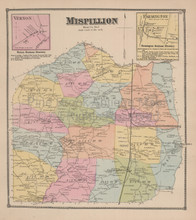 Mispillion Delaware Antique Map Beers 1868