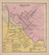 Milford Delaware Antique Map Beers 1868
