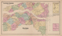 Little Creek Dover Delaware Antique Map Beers 1868