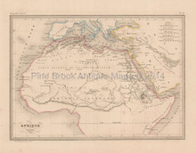 Ancient Africa Antique Map Malte Brun 1850
