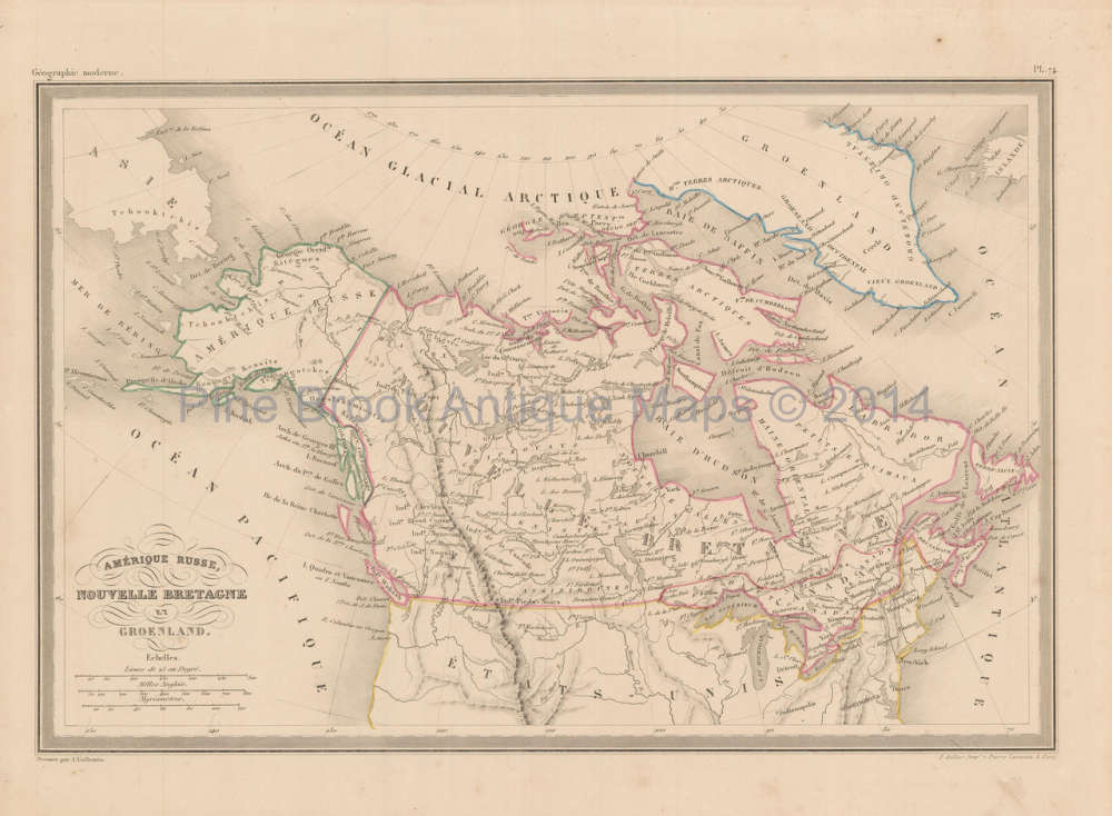 Map Of Canada In 1850.Canadian Gifts Canada Alaska Antique Map Malte Brun 1850 Pine