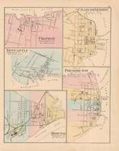 Charlottetown Prince Edward Island Antique Map Roe 1878