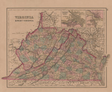 Virginia Baltimore Antique Map Gray 1876