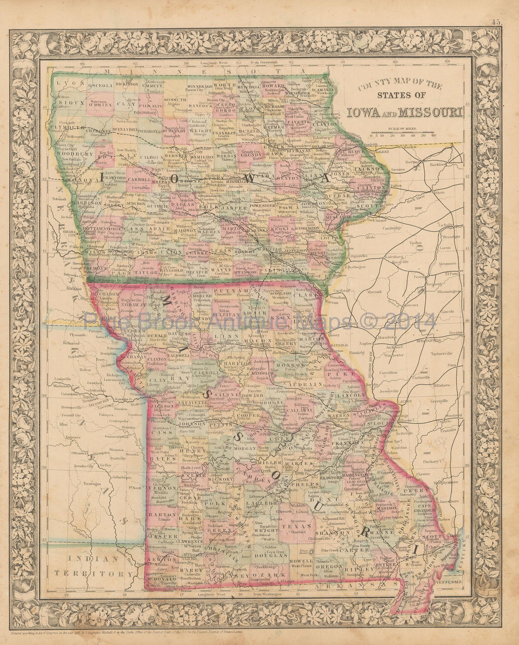 Iowa Missouri Antique Map Mitc 1866 on map of wisconsin, sioux center iowa, washington iowa, map of alabama, map of ohio, walnut iowa, altoona iowa, fremont iowa, ottumwa iowa, eldora iowa, decorah iowa, adel iowa, dyersville iowa, map of mississippi, toledo iowa, fort madison iowa, early iowa, airports in iowa, map of maine, red oak iowa, map of pennsylvania, road map iowa, adair iowa, google maps iowa, cities in iowa, map of kentucky, hull iowa,