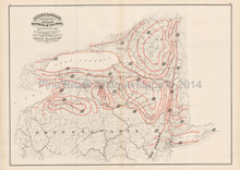 New York State Meteorological Antique Map Asher Adams 1870