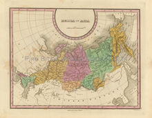 Russia in Asia Siberia Antique Map Finley 1833