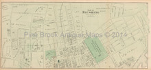 South Flushing New York Antique Map Beers 1873