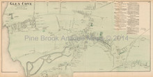Oyster Bay New York Antique Map Beers 1873