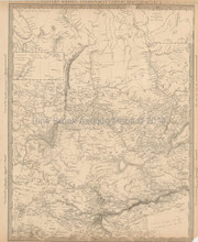 Western Siberia Antique Map SDUK 1838