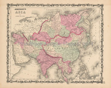 Asia Antique Map Johnson 1863