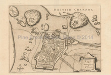 St. Malo France Antique Map Barrow 1756