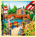 Amsterdam Location Themed Mega Wooden Jigsaw Puzzle 500 Pieces
