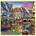 Colmar Canal Location Themed Mega Wooden Jigsaw Puzzle 500 Pieces