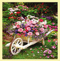 Garden Flowers Nature Themed Mega Wooden Jigsaw Puzzle 500 Pieces