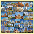 Great Churches Of The World Themed Maxi Wooden Jigsaw Puzzle 250 Pieces