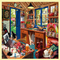 Man Cave Nostalgia Themed Mega Wooden Jigsaw Puzzle 500 Pieces