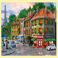 Paris Streets Location Themed Maxi Wooden Jigsaw Puzzle 250 Pieces